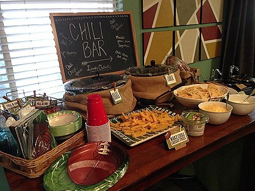 Super Bowl Chili Bar — nHerShoes #chilibar