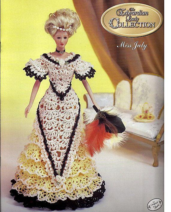 Miss July The Edwardian Lady Collection Fashion Doll Crochet Pattern ...