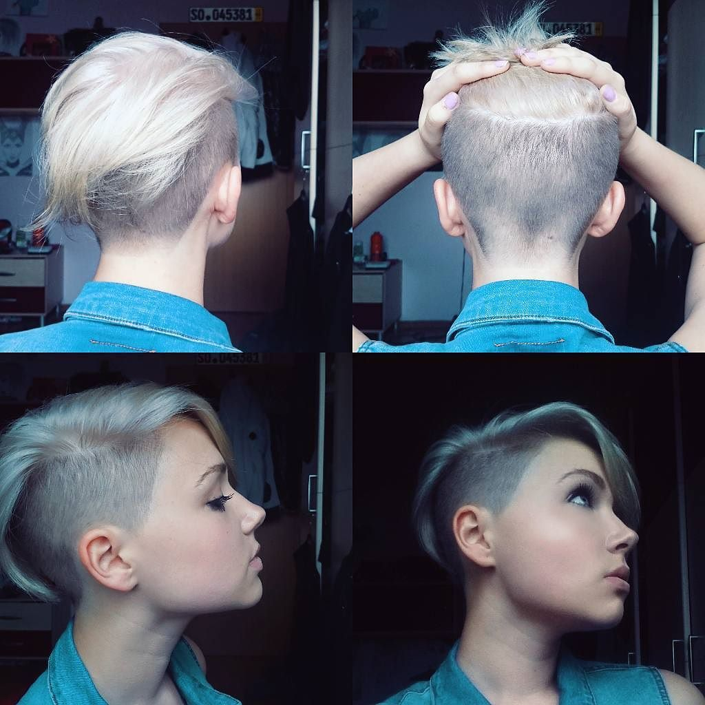 Short Shaved Hairstyles short mohawk shaved hairstyles for women Nothing But Pixies Undercut Short Haircut