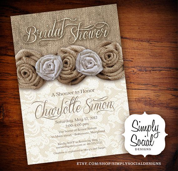 Rustic Chic Burlap And Lace Bridal Shower By