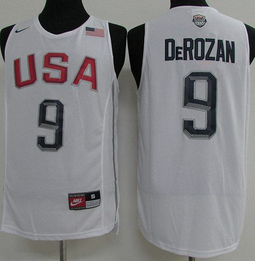 nike team usa 9 demar derozan white 2016 dream team stitched nba rh pinterest com