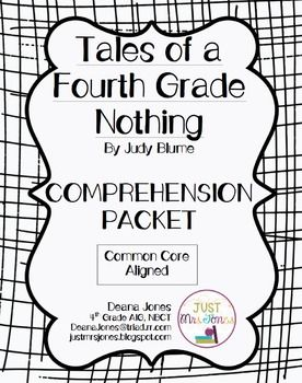 Tales of a Fourth Grade Nothing Comprehension Packet (With