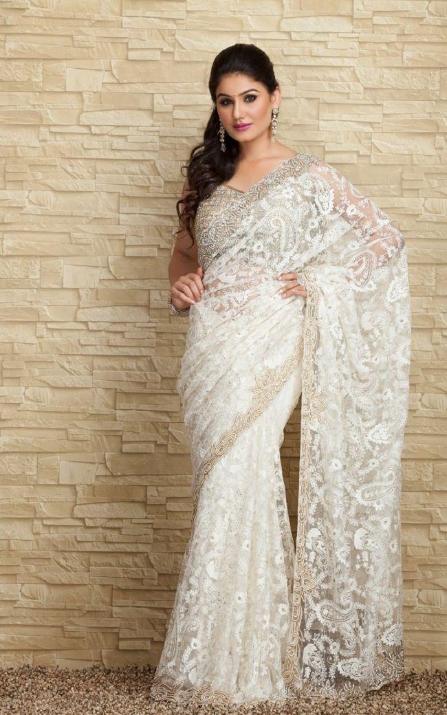 Wedding Dress With Sari