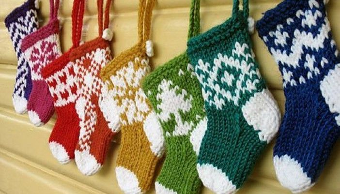 Free Christmas Ornament Knitting Patterns Christmas Pinterest
