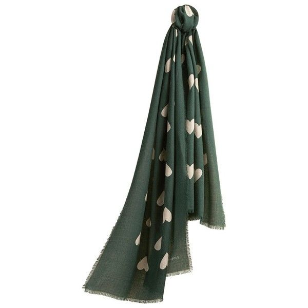 Burberry The Lightweight Cashmere Scarf in Heart Print (€935) found on Polyvore featuring women's fashion, accessories, scarves, lightweight scarves, cashmere shawl, burberry shawl, burberry and cashmere scarves