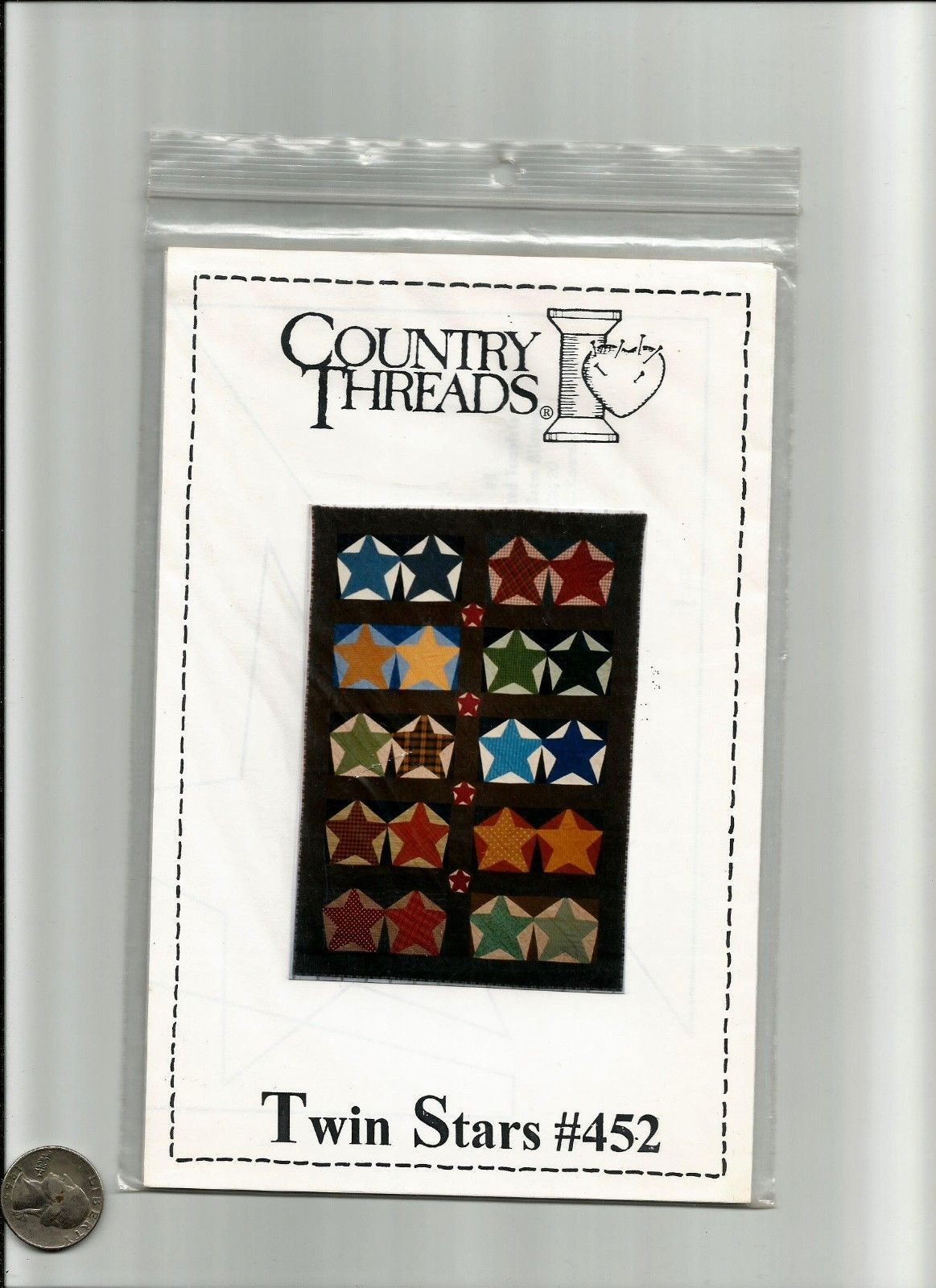 A Twin Stars Bom Quilting Pattern by Country Threads 1999 | eBay