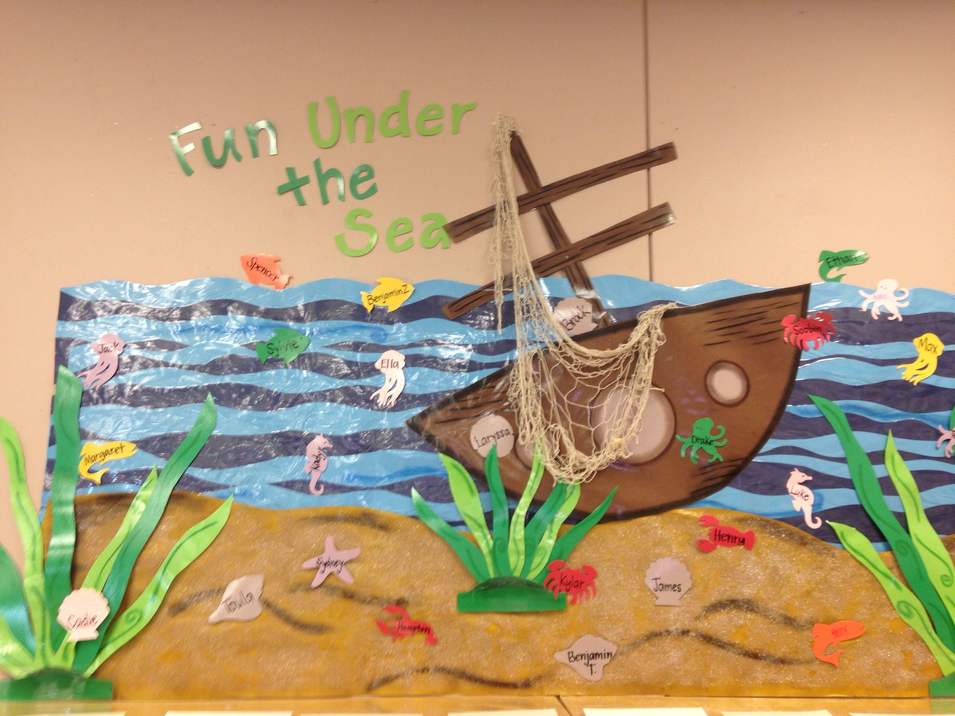 Fun Under The Sea Ocean Bulletin Board