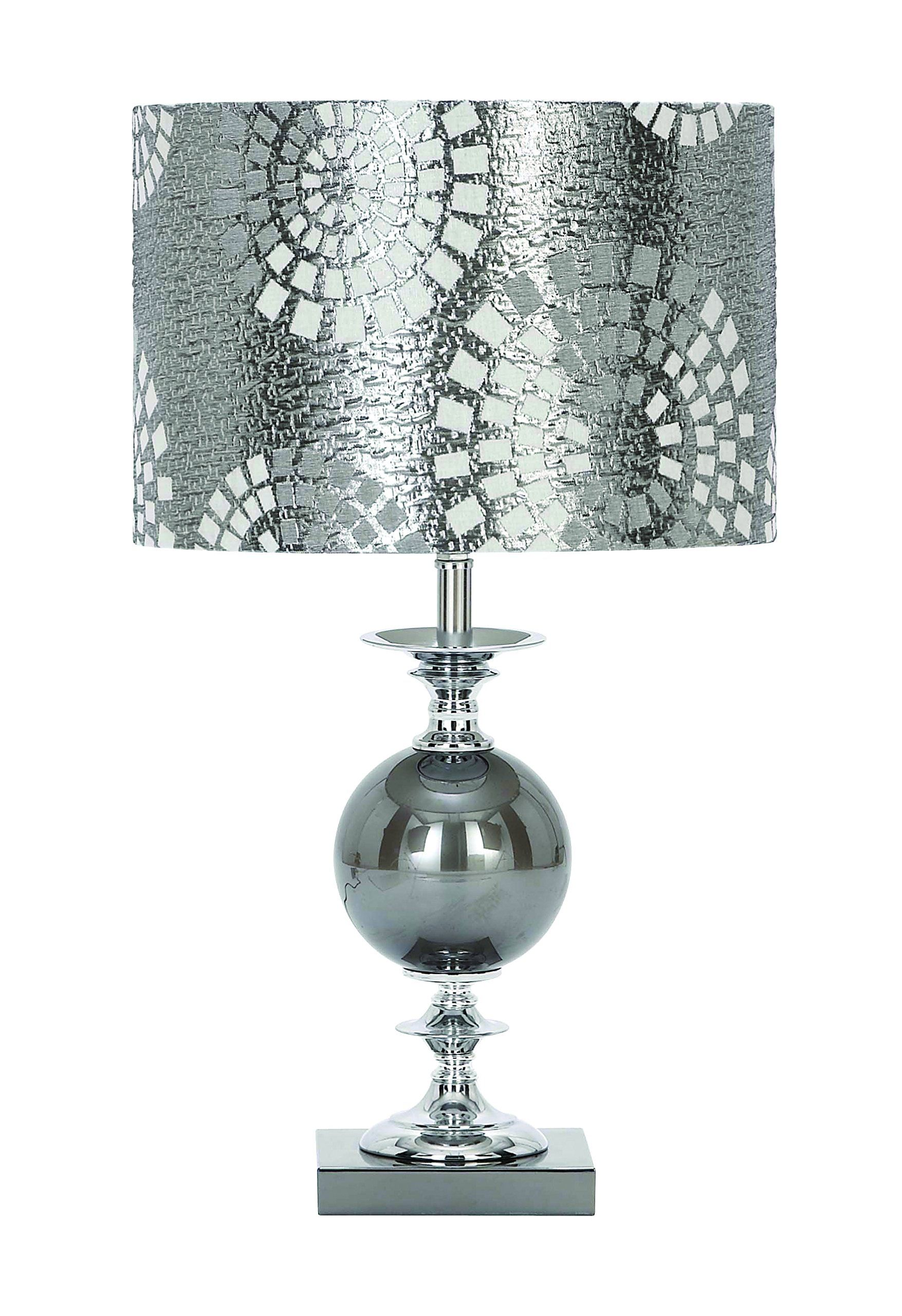 Amazon.com - Table Lamp in Metal and Glass with Shade - Two Light Table Lamp