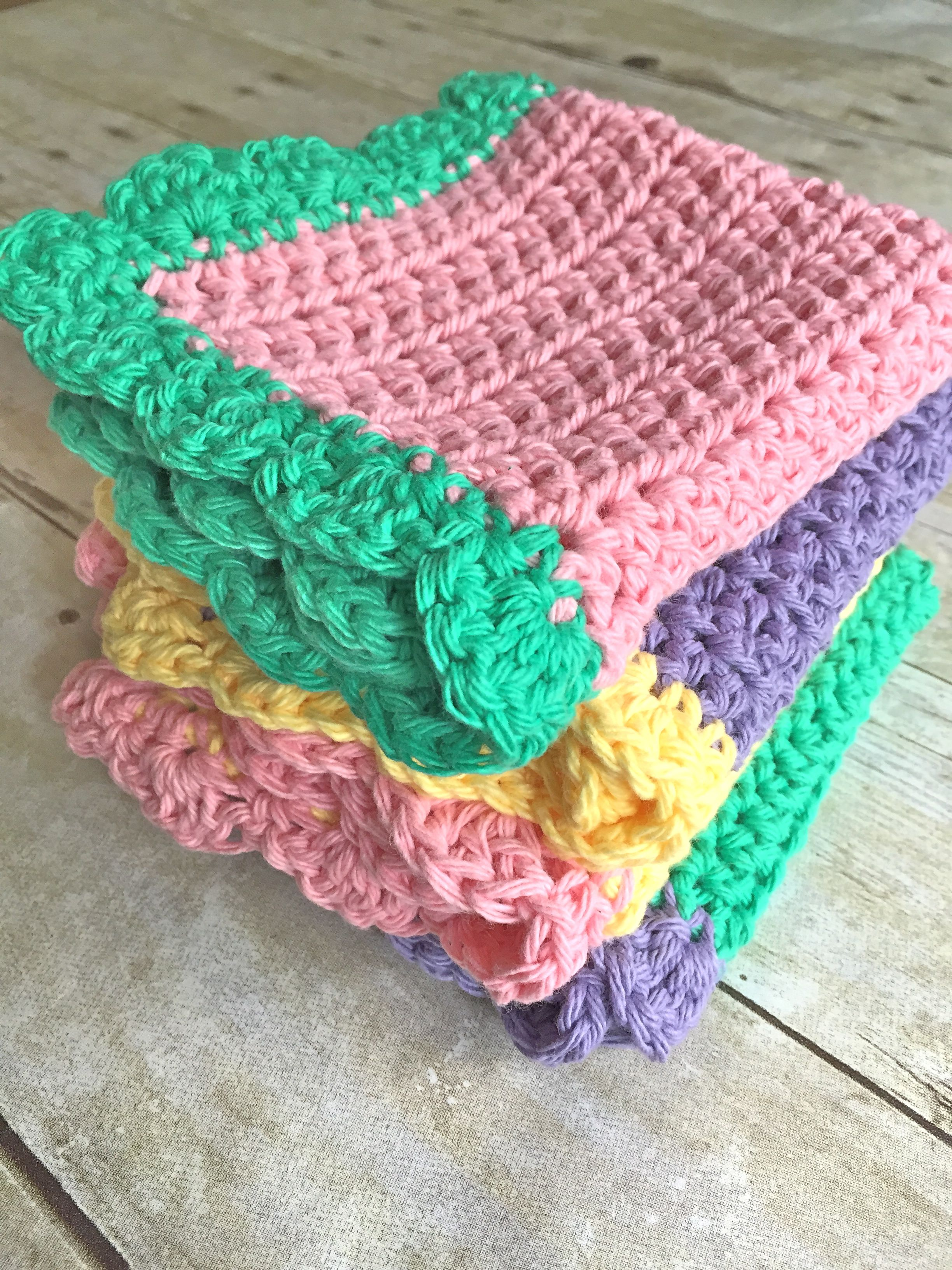 SIMPLE EASY DISH CLOTH PATTERN Beginner. | Crochet Crafts | Pinterest