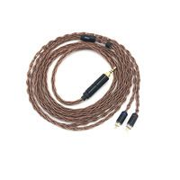 OCC 8 Strands 19 Core Braided MMCX//2pin 0.78mm HiFi IEM Earbud Earphone Cable