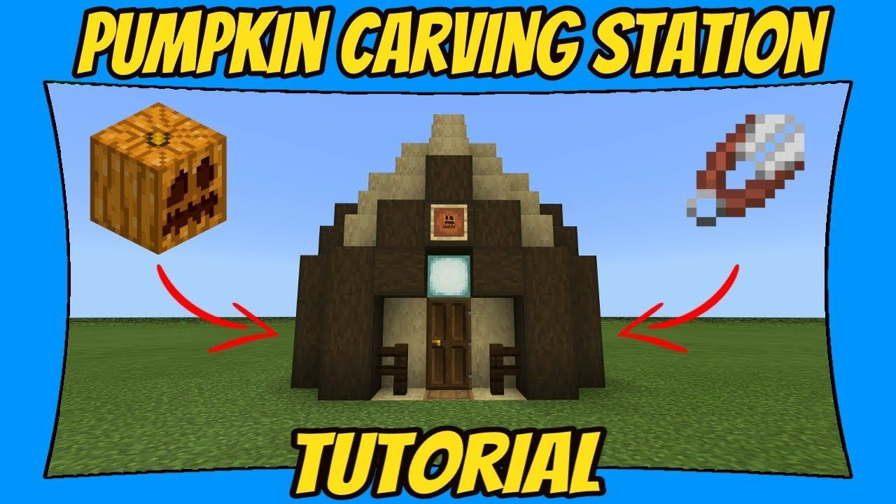 Pumpkin Carving Station Tutorial [Minecraft Bedrock