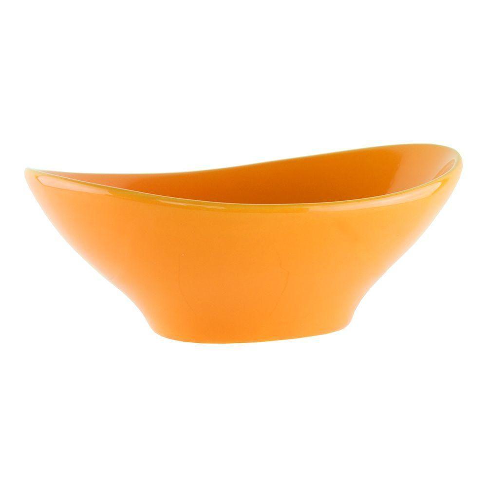 9-1/2 in. Ceramic Catalina Bowl in Orange/Peaches, Oranges/Peaches