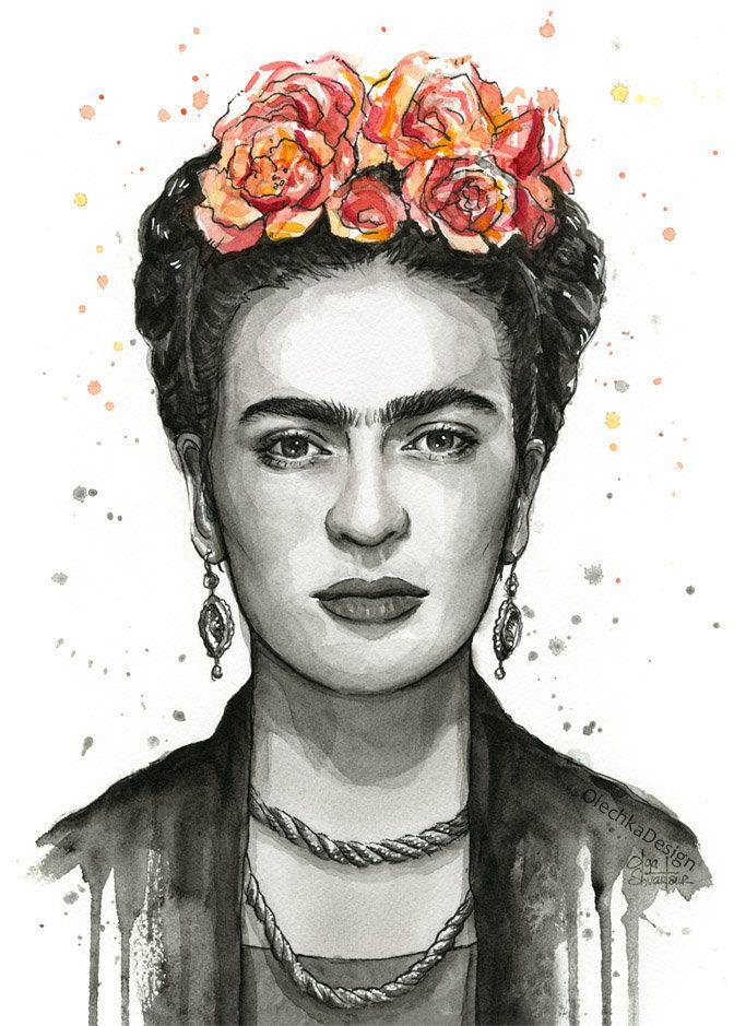 Frida Kahlo Print, Frida Kahlo Art, Frida Kahlo Painting, Frida Kahlo Portrait, Frida Kahlo Fan Art, Frida Kahlo Wall Art, Giclee Prints