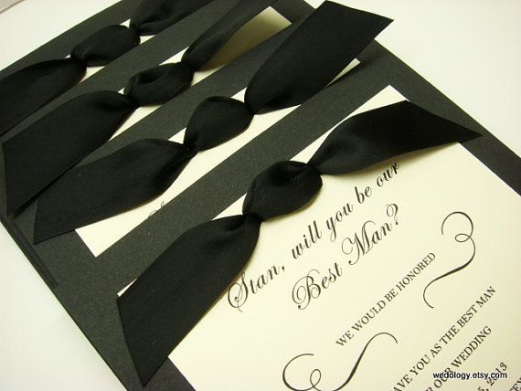 Groomsman Invitation Will You be My Best Man, Man of Honor, Ring - best of invitation card about wedding