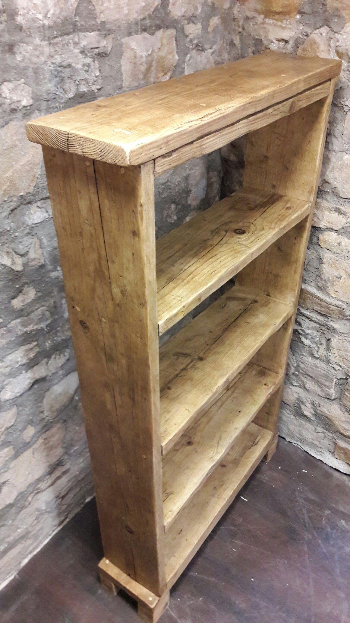 Timber Bookcase: Handmade Solid Wood Bookcase Made From Scaffold Boards
