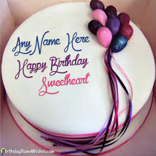 Birthday Cake Gift For Boyfriend With Name Editor Birthday