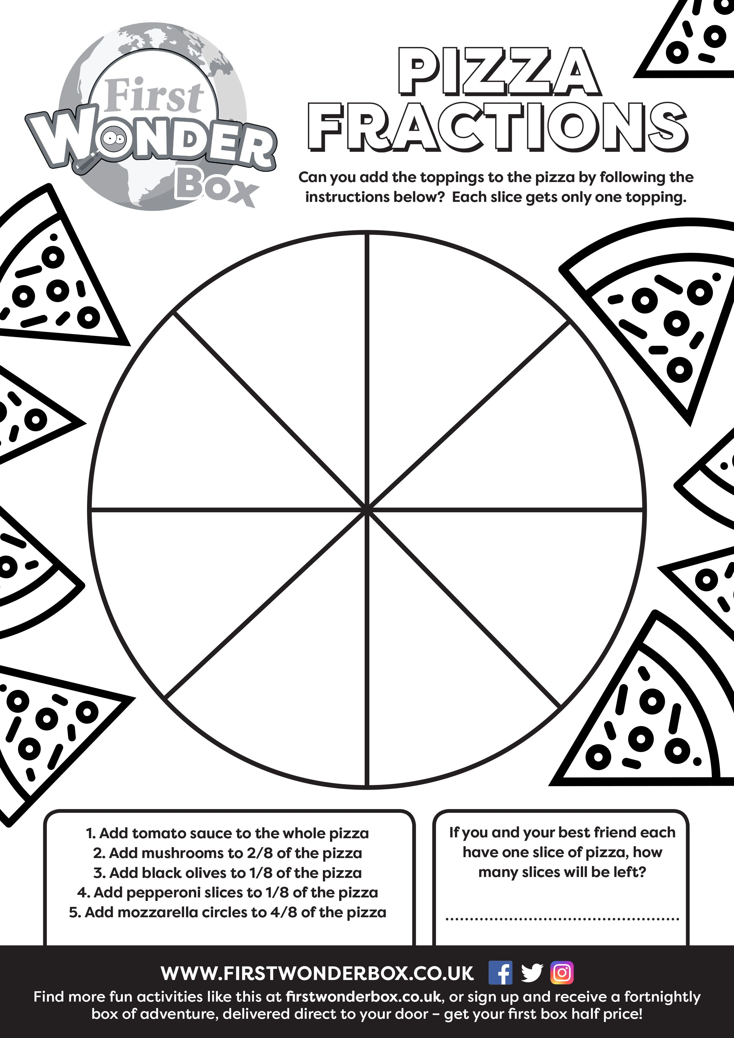 Download And Print This Free Pizza Fractions Activity