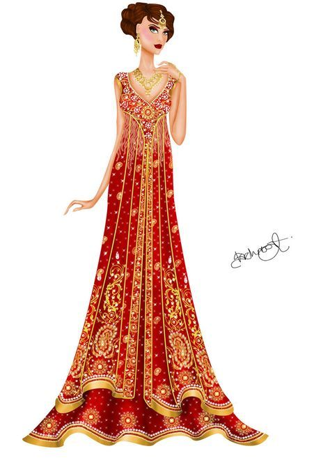 Asian inspired wedding gown 2 by Shehnoor2412.deviantart.com on ...