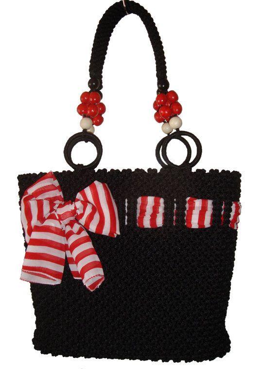 Handbag,macrame,handmade Bag on Wanelo