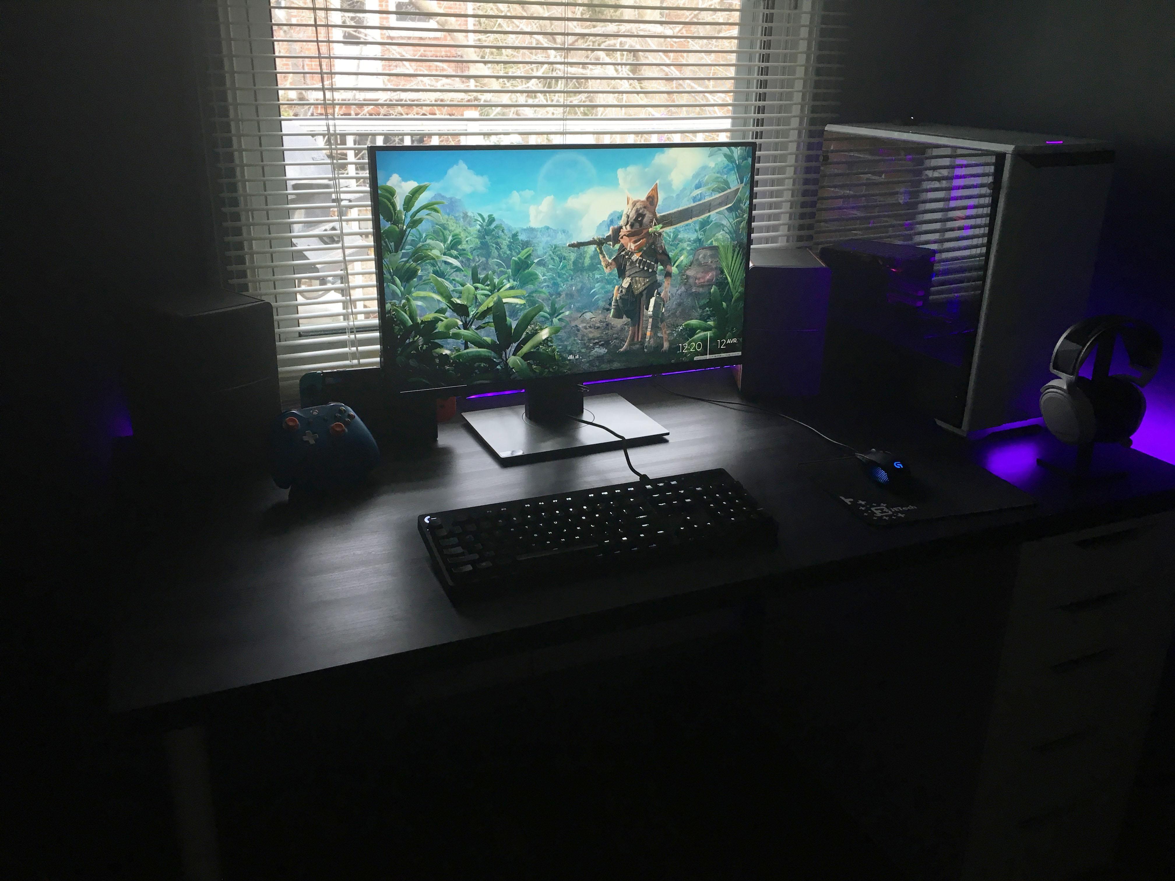 My battlestation v.01 Battlestation, Custom pc, Gaming setup
