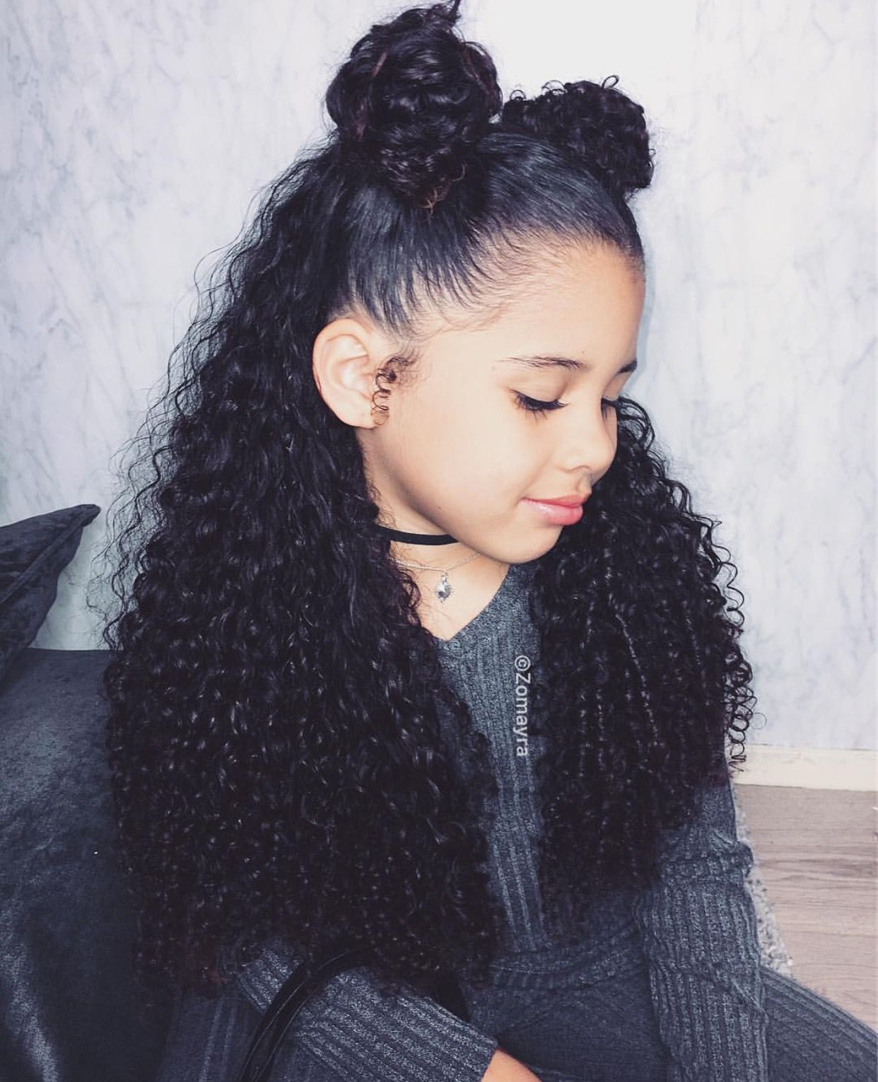 Pin By Khushibharne On Curly Hair Goals Mixed Curly Hair Mixed Girl Hairstyles Mixed Race Hairstyles