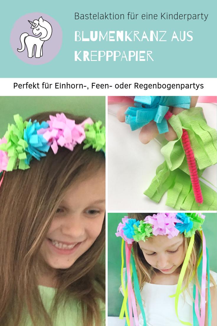 Photo of Blumenkranz aus Krepppapier