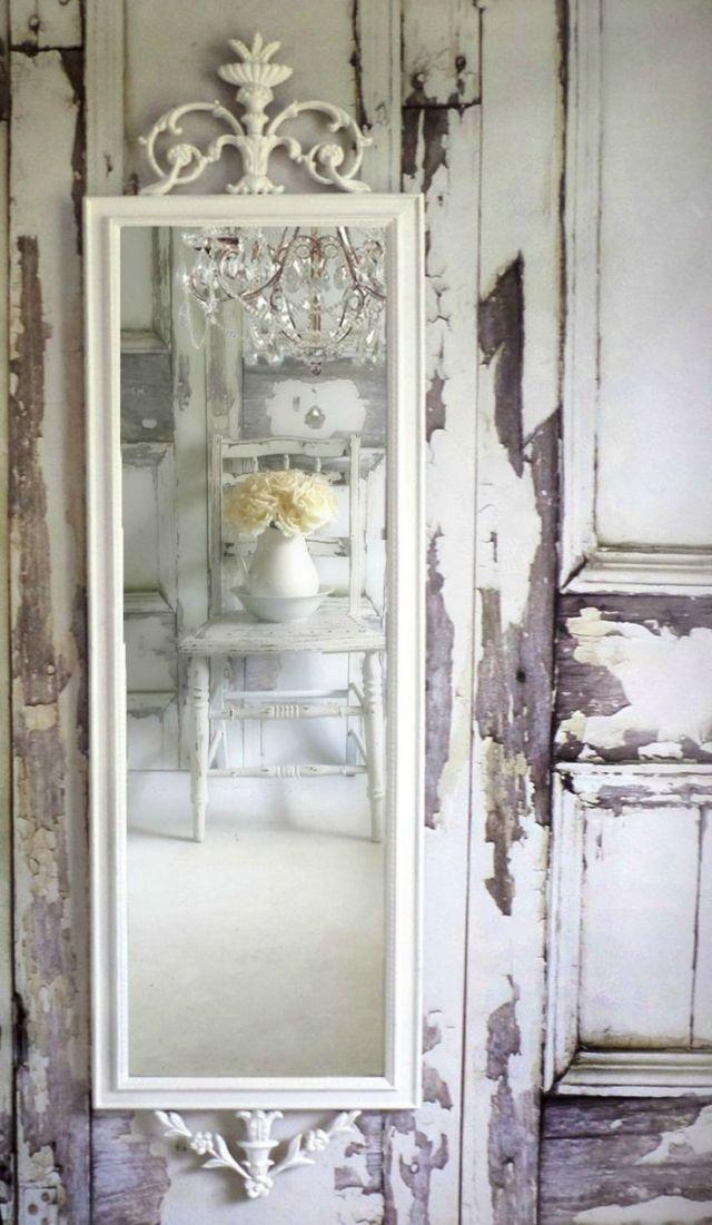 shabby chic wände-spiegel-weiss-gestrichener-rahmen | Casa ...