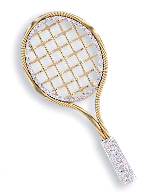 14K Gold Tennis Racquet w//Ball Stud Earrings Jewelry