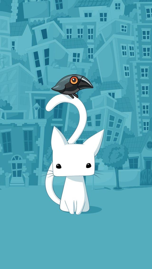 Cute City Cartoon Cat Iphone 5s Wallpaper Cartoon Wallpaper