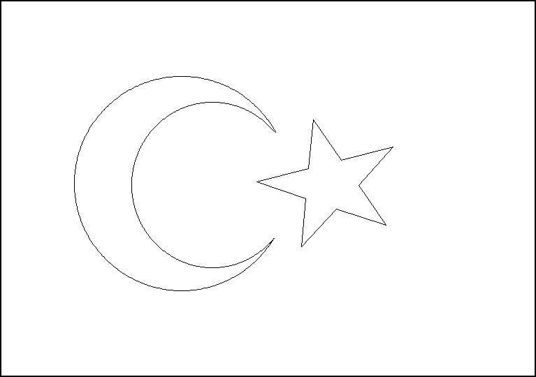 Türk Bayrağı Boyama Kağıdı çalışması Türkiye Flag String Art Ve