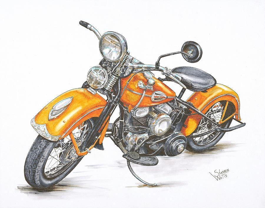"VINTAGE MOTORBIKE retro cafe racer art print painting ON  CANVAS 39/"" X 39/"""
