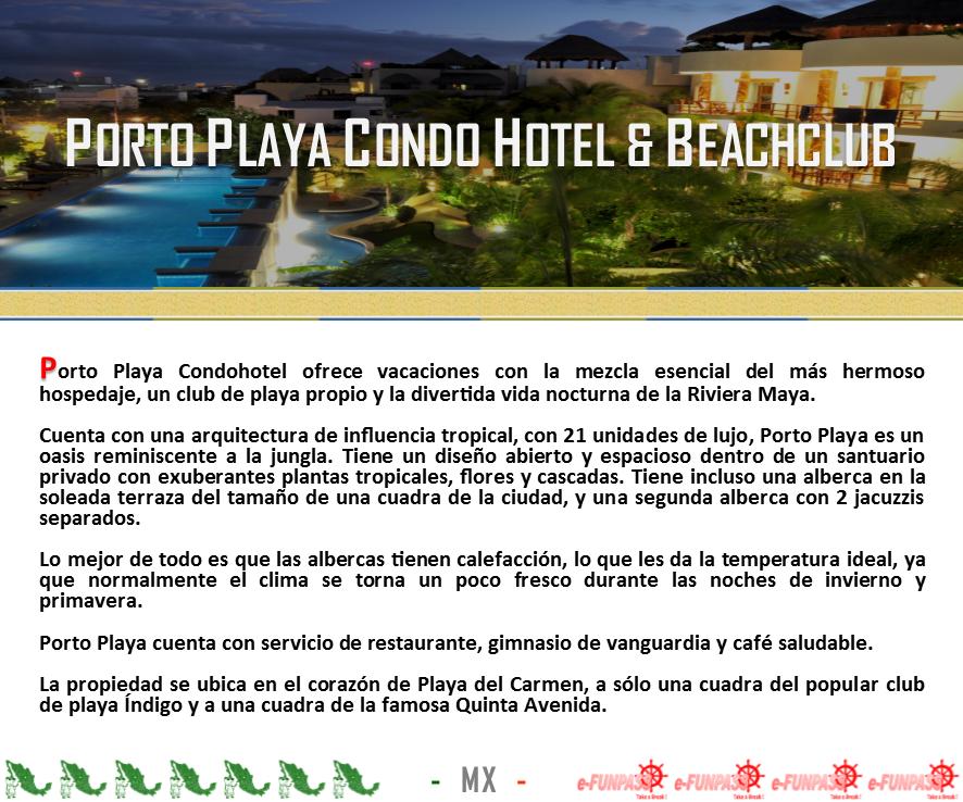 Playa Del Carmen Porto Playa Hotel Info Playa Del