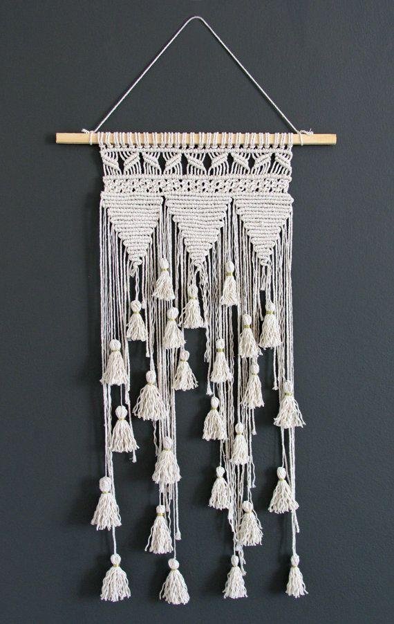 Macrame wall hanging Macrame fiber art Macrame by rustichandcrafts