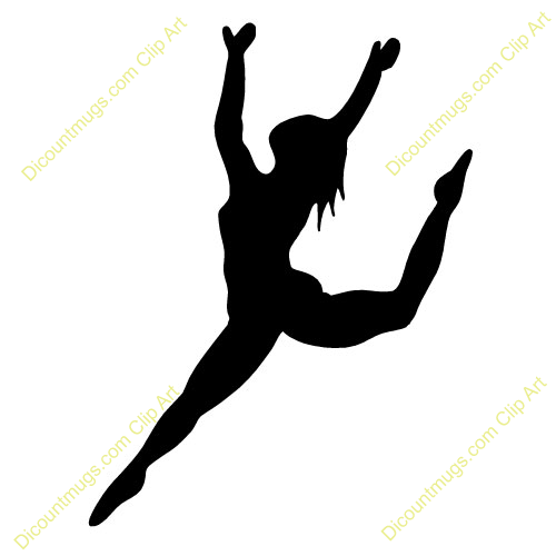 ribbon dancer silhouette clip art dance leap silhouette clipart rh pinterest com Mexican Hat Dance Clip Art Cheer Clip Art