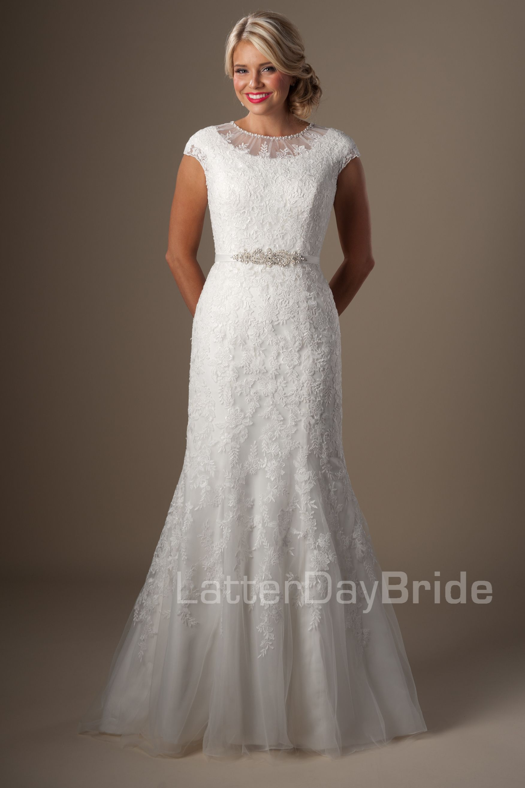 Modest Wedding Dresses : Olympia. Latter Day Bride, Gateway Bridal ...