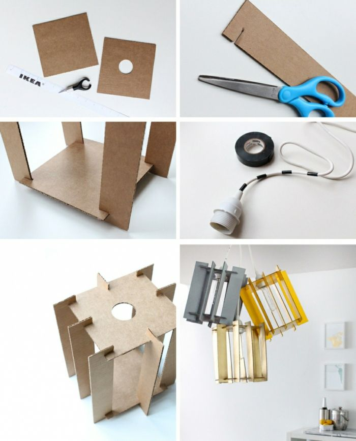 Do It Yourself Deko diy deko dekoideen hängeleuchten pendeleuchten kronleuchter dies