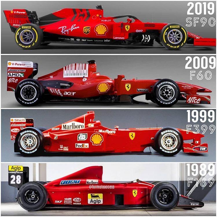 Formula Access Su Instagram Scuderia Ferrari Evolution 1989 2019 Formula1 Formulaon Formula 1 Car Ferrari Racing Ferrari F1