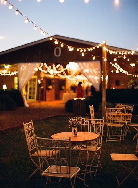 Night Rustic Burlap Wedding Ideas With Lights Http Www Deerpearlflowers