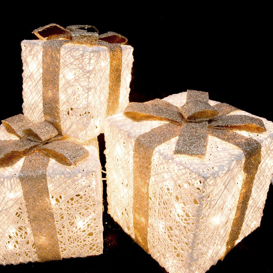 Shop Holiday Living Lighted Gift Boxes Outdoor Christmas