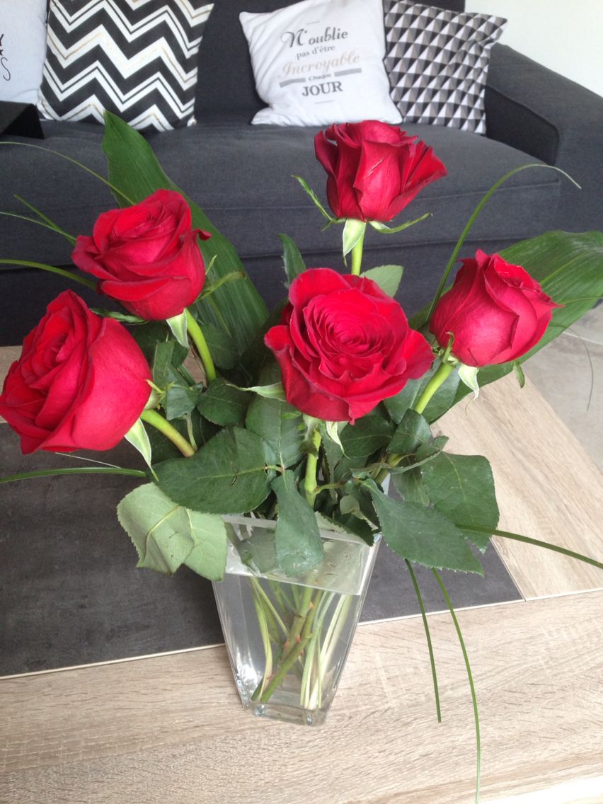 astuce pour garder ses roses coup es plus longtemps couper les tiges en biseau mettre de l 39 eau. Black Bedroom Furniture Sets. Home Design Ideas