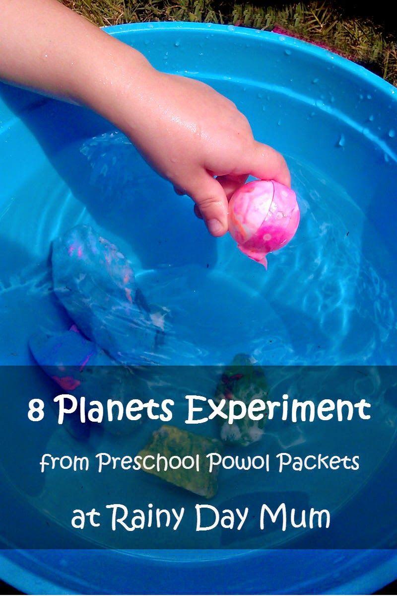 8 Planets Preschool Science Experiment Science Experiments For Preschoolers Planets Preschool Space Activities