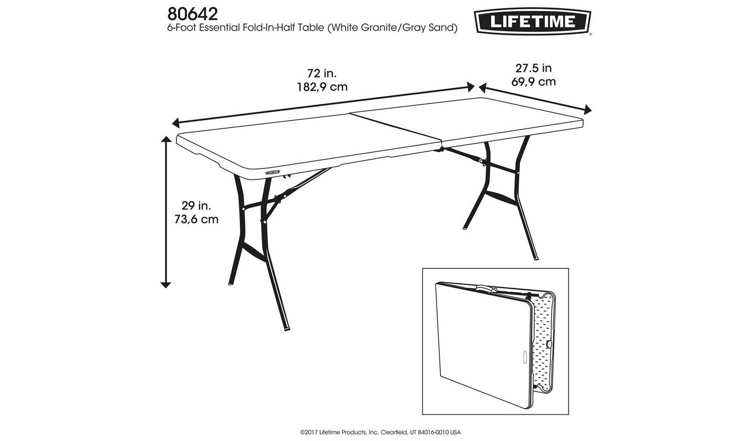 - Buy Lifetime 6ft Folding Camping Table Camping Tables In 2020 Camping  Table, Folding Camping Table, Metal Folding Chairs