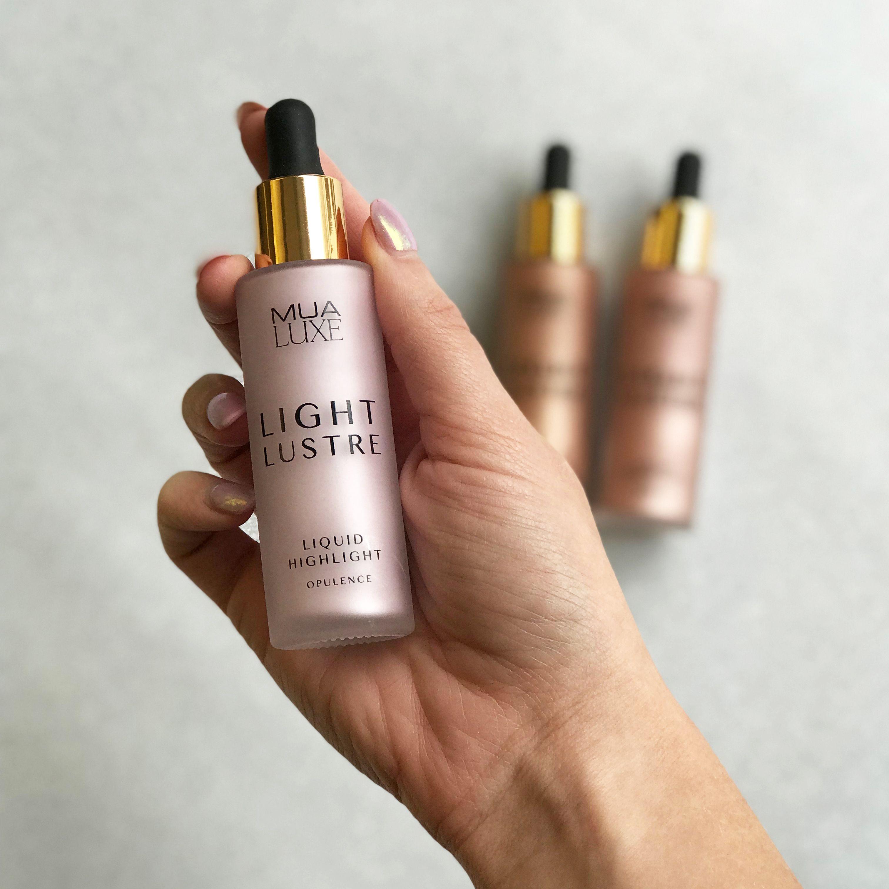 Light Lustre liquid highlighter drops from MUA Cosmetics