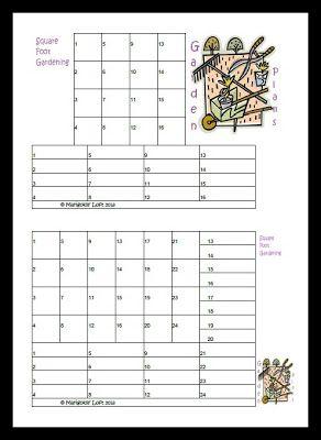 Marigolds' Loft: Filofaxiness / Garden Plans (Square Foot ...