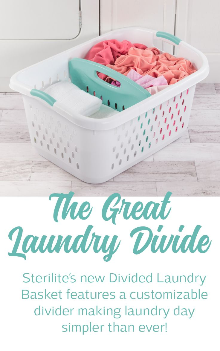 The divided laundry basket is designed to make laundry day simpler than ever this innovative basket has a customizable divider and features to accommodate