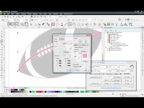 Coreldraw Bitmap Vector Conversion Football Project Corel Draw Tutorial Coreldraw Web Design Software