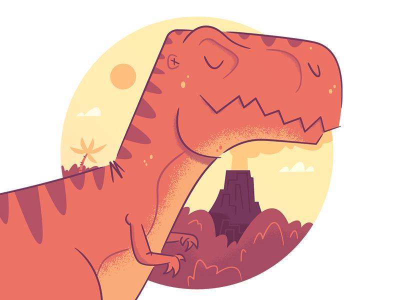 Dribbble - Illustration | Dino Study by Rocky Roark