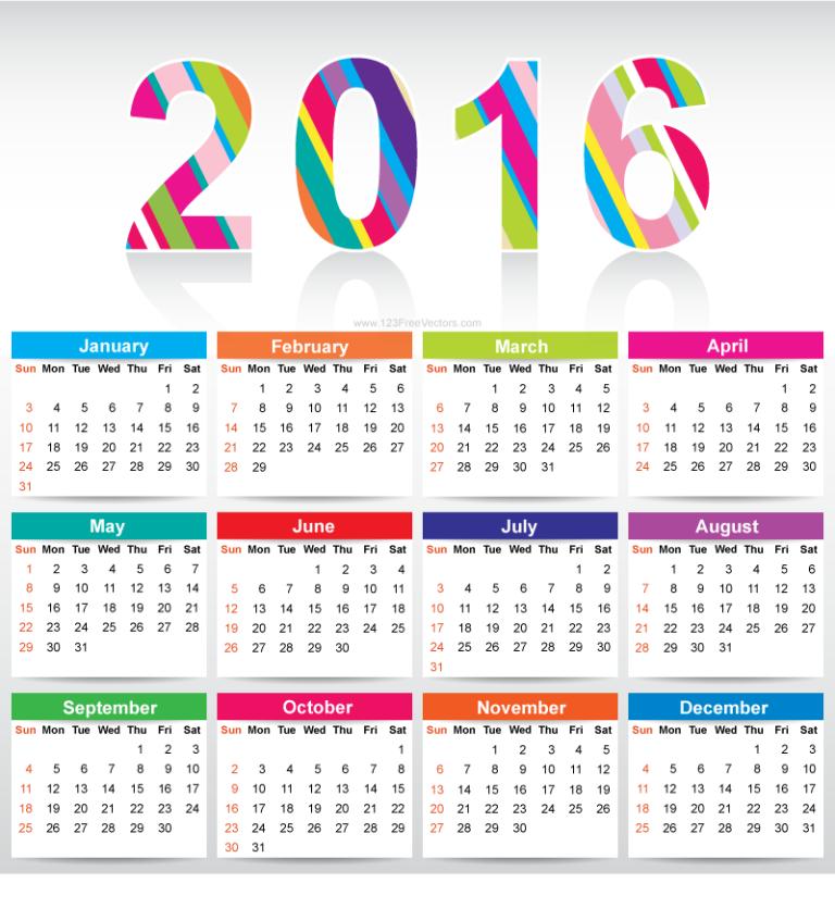 64 breathtaking 2016 printable calendar templates printable