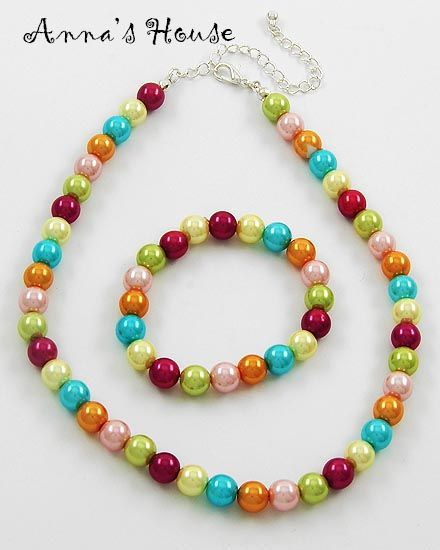 Colorful Synthetic Pearls