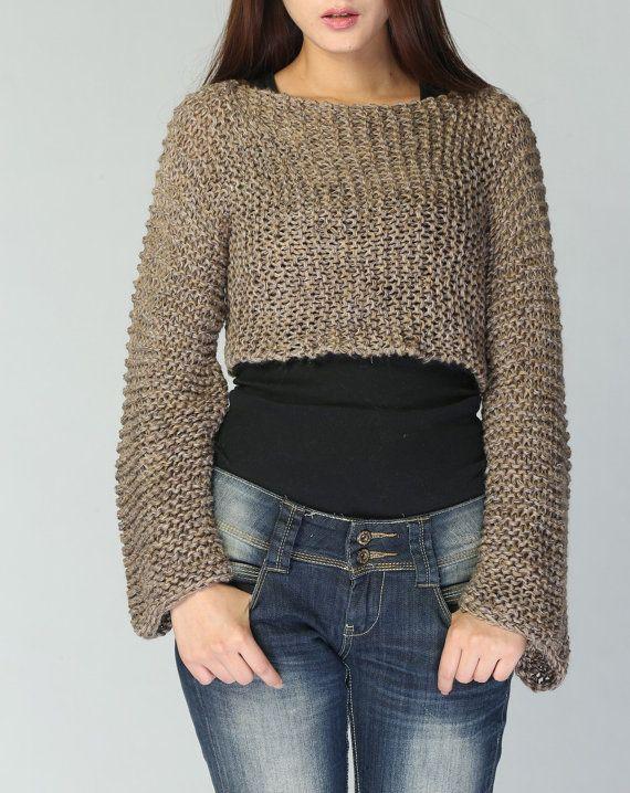 Punto jersey cubierta de Mocha y café Eco algodón por MaxMelody